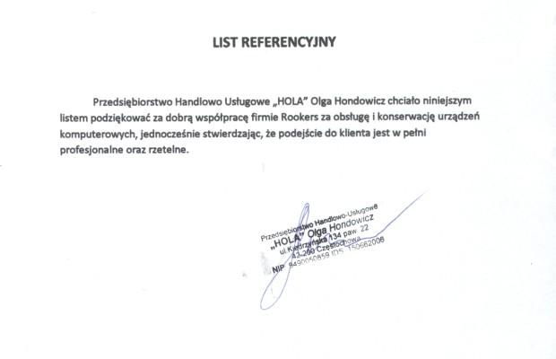 Referencje HOLA